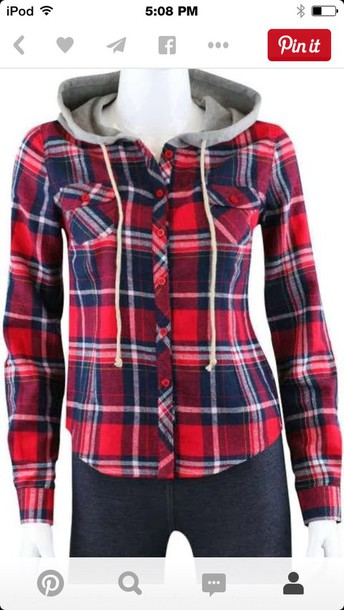 jacket plaid jacket hoodie