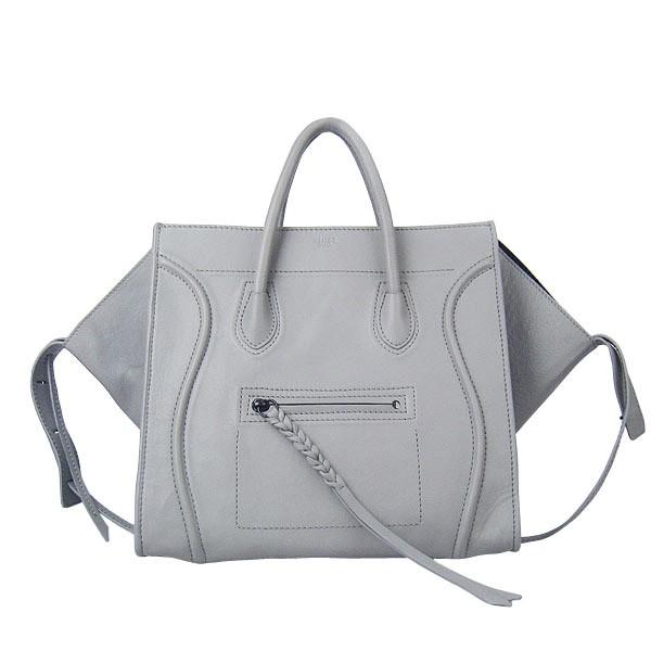 Celine Luggage Phantom Tote Bag White