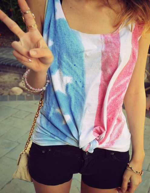 American Flag Tank Top - Nerdy Youth