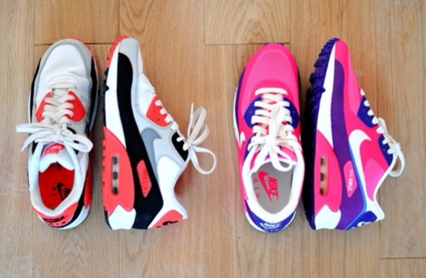 shoes air max tennis shoes pink and purple red and black and white