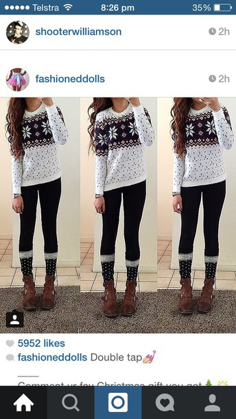 cardigan sweater socks shoes shirt snowflake winter sweater christmas sweater christmas white blue stars print comfy red burgundy bordeaux red wine sweater weather oversized sweater cute cute outfits cute sweaters fashion style winter outfits fall outfits outfit outfit idea casual lovely boots black white and black outfit black and white