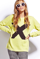 Menswear-Inspired X Sweater | FOREVER21 - 2076554699