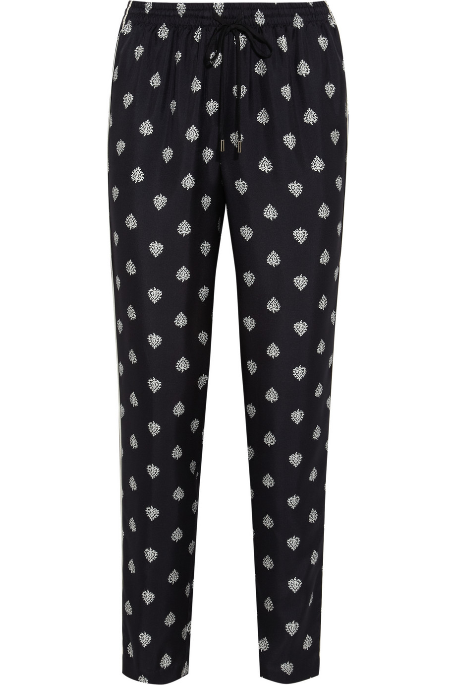 Arianne heart-print silk-twill pajama pants  | THE OUTNET
