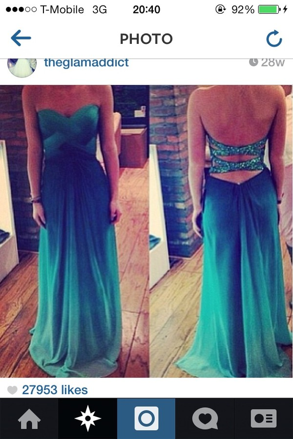 dress blue dress green dress open back dresses prom dress sunglasses