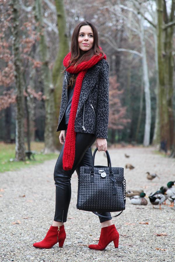 irene's closet scarf pants coat bag shoes
