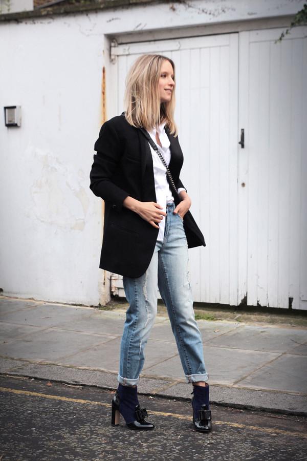 the fashion guitar shoes shirt jacket jeans bag