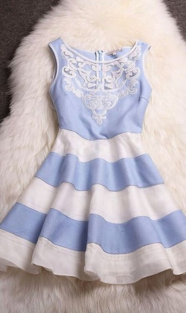 dress blue white stripes