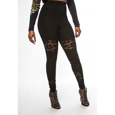 Lace Block Leggings