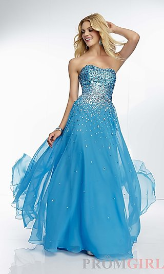 Prom Dresses, Celebrity Dresses, Sexy Evening Gowns - PromGirl: Long Mori Lee Strapless Dress