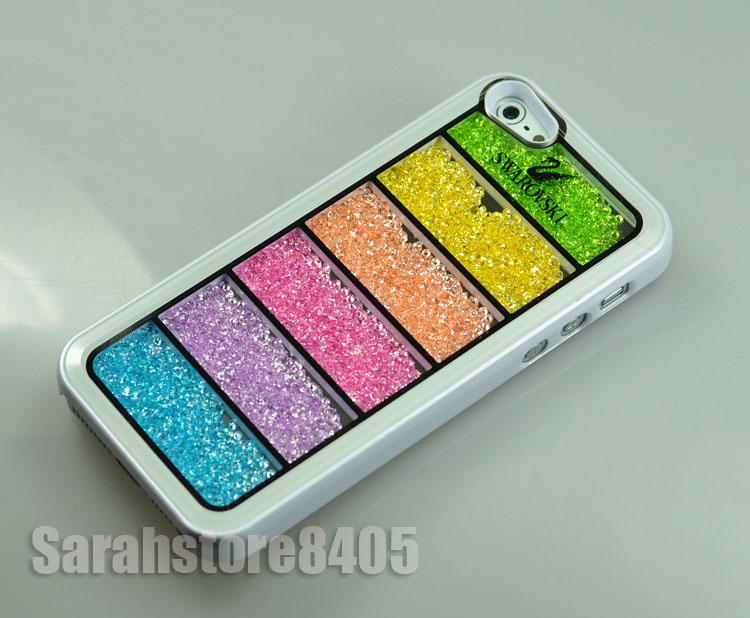 Bling Rainbow Swarovski Element Crystal Phone Cover Case for iPhone 5 White | eBay