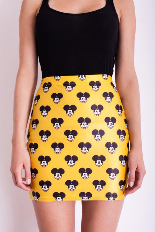 skirt bodycon skirt mickey mouse