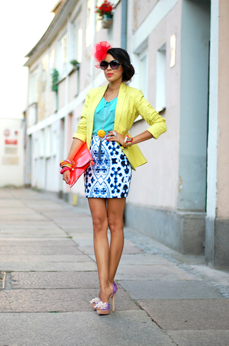 blouse jewels shoes sunglasses skirt bag jacket macademian girl