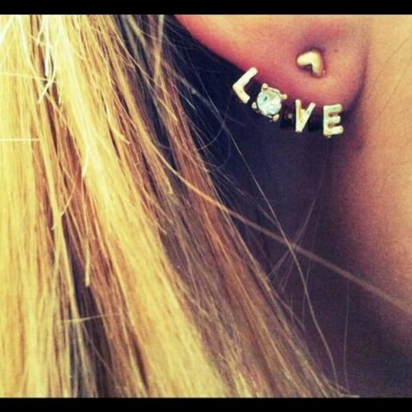 love ear earrings jewels bag