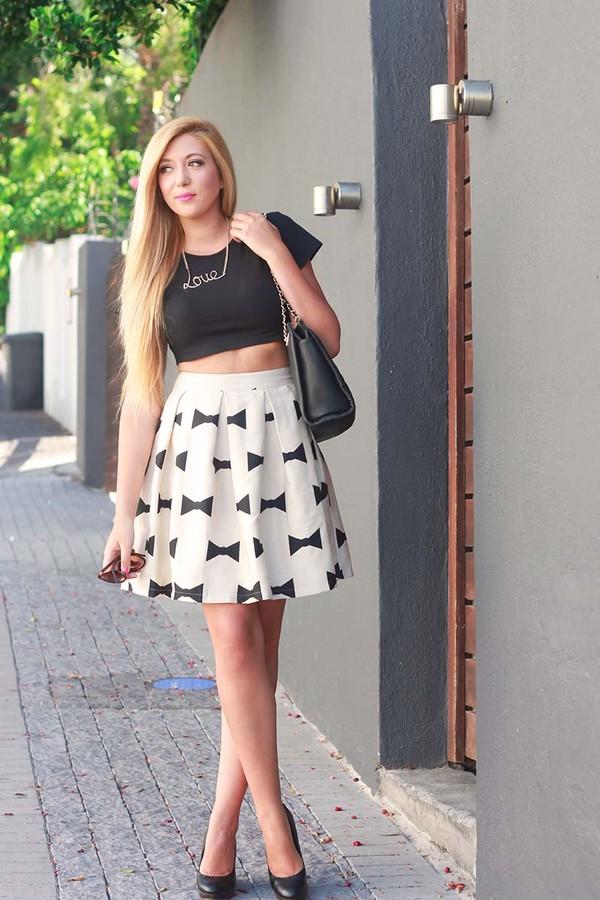 superficial girls skirt t-shirt jewels shoes bag