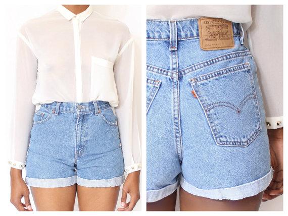 Toutes les tailles coupent enroulé Vintage Shorts par ShopAudella