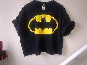 BATMAN URBAN RENEWAL REWORKED CROP TOP INDIE GRUNGE TRASH 90'S 6 8 10 12 14 | eBay