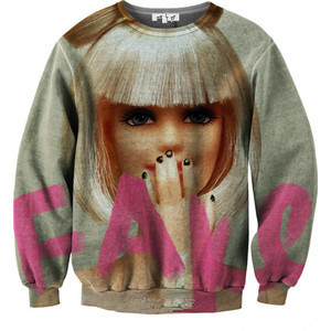 Free shipping available Barbie woman portrait plus velvet jacket pullover sweater wholesale spot sales fashion-in Hoodies & Sweatshirts from Apparel & Accessories on Aliexpress.com