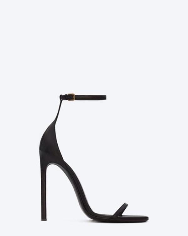 shoes black high heels sandals straps