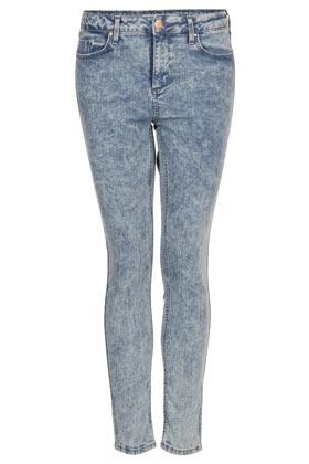 MOTO Bleach Acid Jamie Skinny Jeans - Trousers & Shorts - Sale - Sale & Offers - Topshop