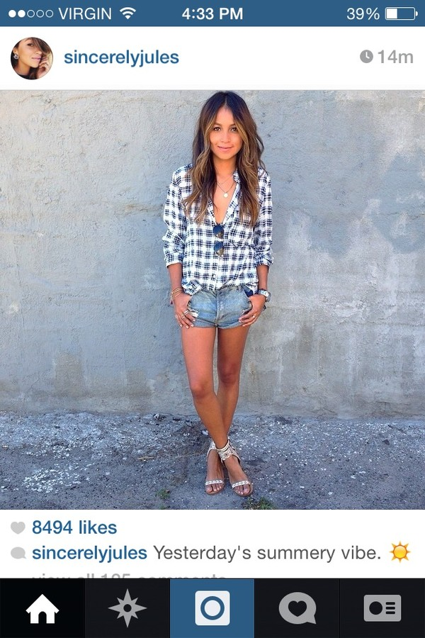 shirt sincerely jules top plaid shorts