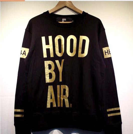 Hood By Air HBA Trill A$AP Rocky ASAP Crewneck Long Sleeve T Shirt Male T Shirt-in T-Shirts from Apparel & Accessories on Aliexpress.com