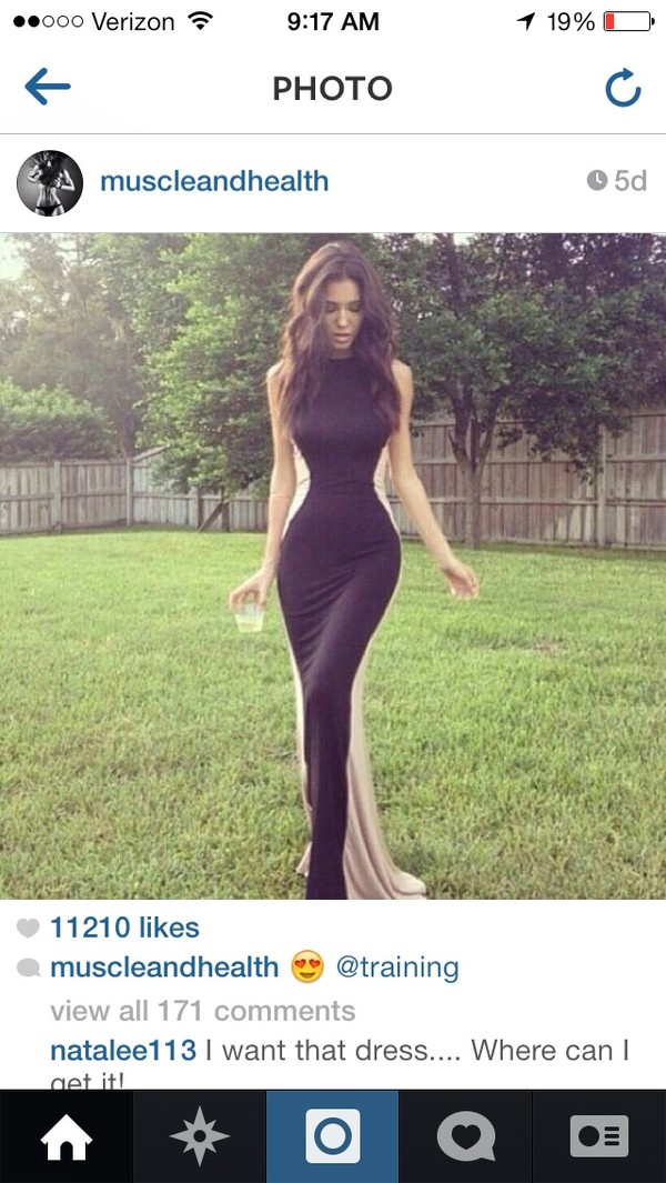 dress black beige dress formal black dress long prom dress