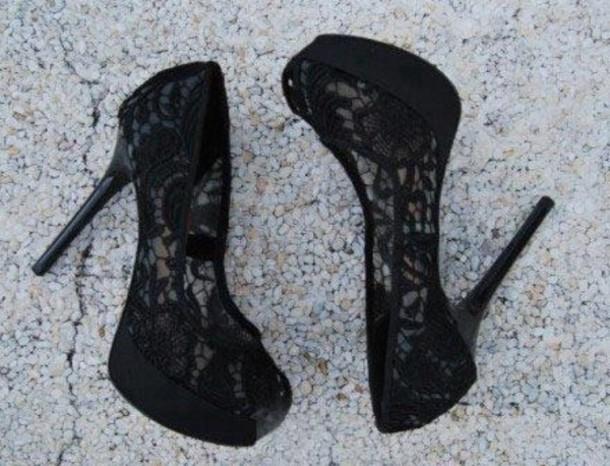 shoes heels black heels