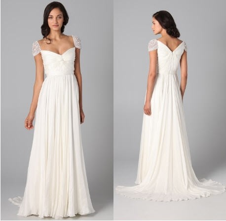 Reem Acra Sparkle Cap Sleeve Wedding Dress (olivia Wilde Gow Wedding Dress 36% Off| Tradesy Weddings