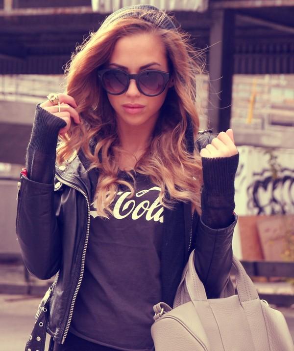 t-shirt coca cola bag sunglasses belt jacket sweater