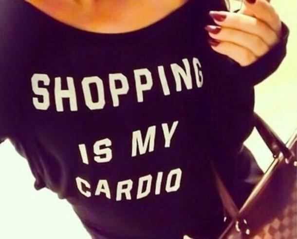 shirt shopping workout cardio sweater