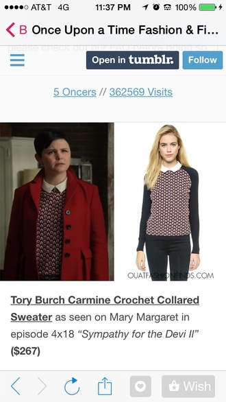 blouse once upon a time show snow white mary margaret blanchard tori burch jacket