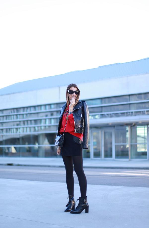 b a r t a b a c shoes skirt sweater jacket bag sunglasses