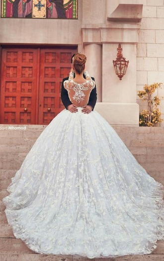 dress wedding dress princess white large long party special