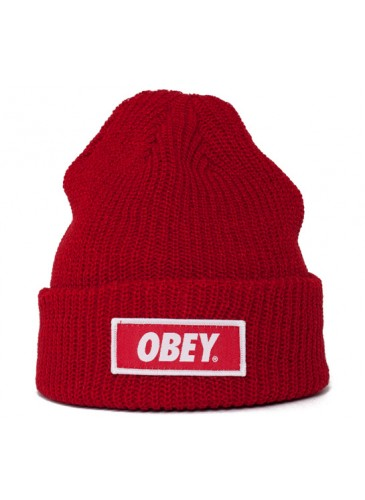 Obey Standard Issue Beanie (Red) - Consortium.