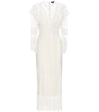 dress tulle dress embroidered white