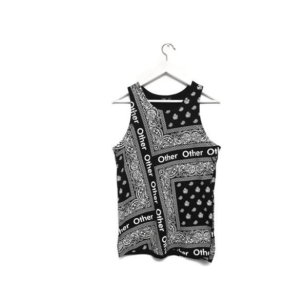 Bandana Vest Black Other UK - Polyvore