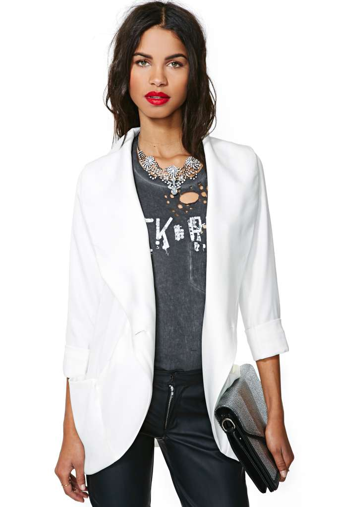 Clean Slate Blazer in  Clothes Jackets   Coats at Nasty Gal