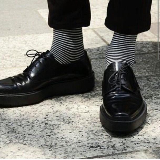 socks stripes stripedsocks mens shoes hipster menswear unisex mens derby shoes