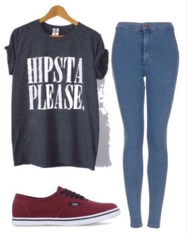 shirt hipster jeans