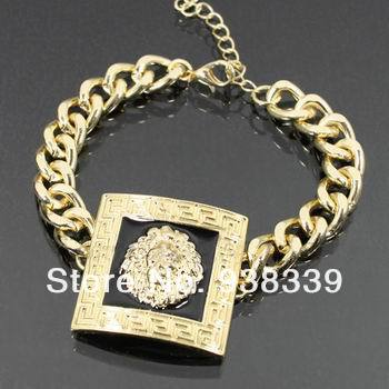 Fashion square lion head enamel bracelet, faster delivery with Free Shipping-in Special Store from Jewelry on Aliexpress.com