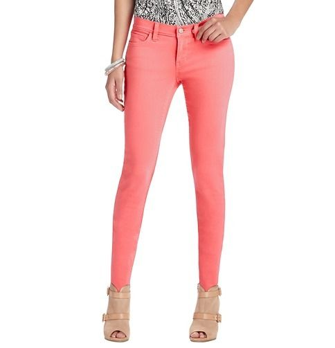 Ann Taylor Loft Coral Color Pop Modern Skinny w Stretch Jeans $59 12P | eBay