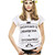 T-shirt Femme SHOPPING IS CHEAPER THAN A PSYCHIATRIST GIRLY Blanc by SPHARELL WE ARE