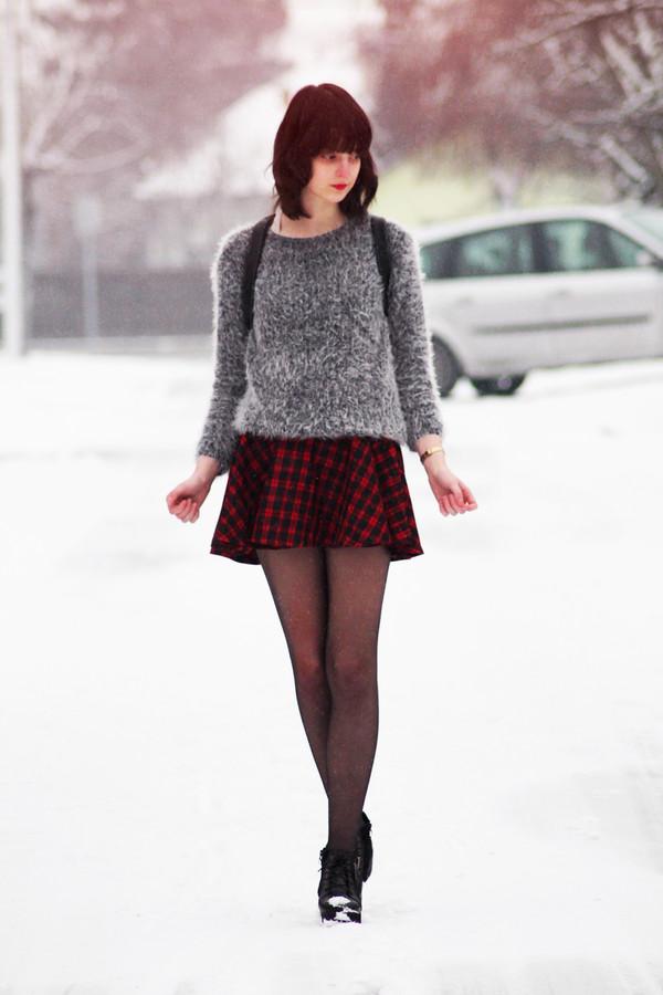 mes memos skirt sweater shoes bag