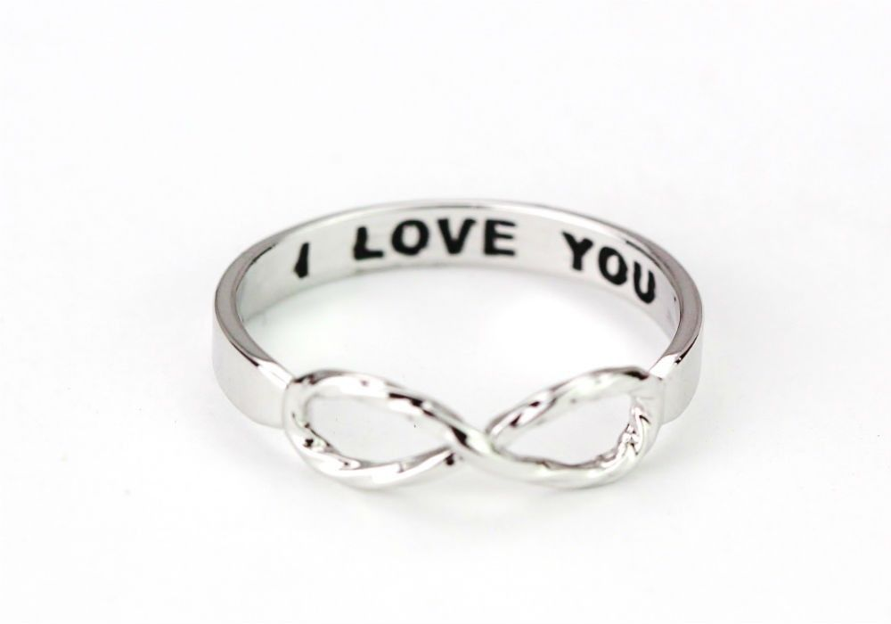 New! Silver Crunched Infinity I Love You Fashion Ring for Women Jewelry | eBay