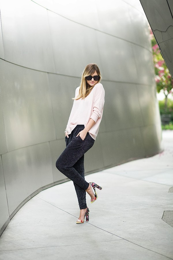 late afternoon pants sweater shoes jewels sunglasses