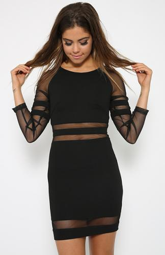 Collide Dress - Black | Back In Stock | Clothes | Peppermayo