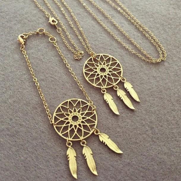 jewels necklace dreamcatcher necklace boho jewelry