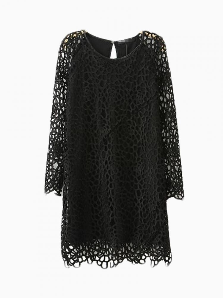 Pencil Hollow Out Dress On Lace | Choies