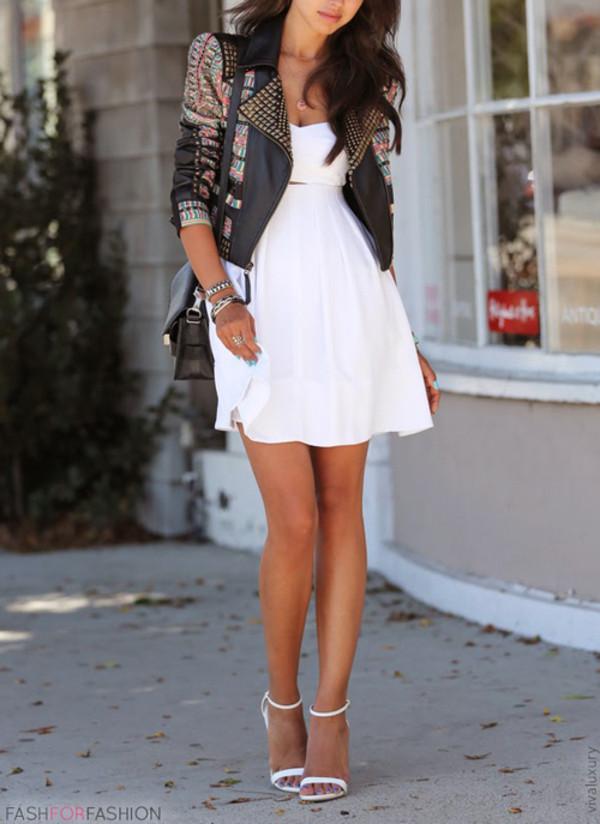 jacket dress white