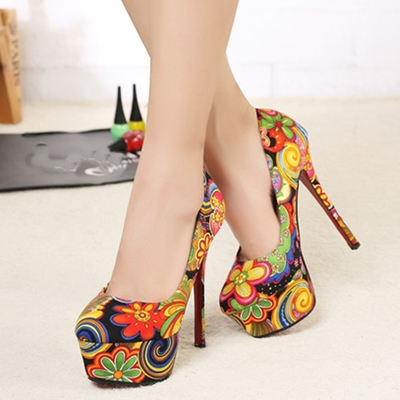 Vintage Floral Prints High Platform Heels Shoes · Humbly Glam · Online Store Powered by Storenvy